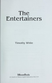 Cover of: The entertainers | White, Timothy