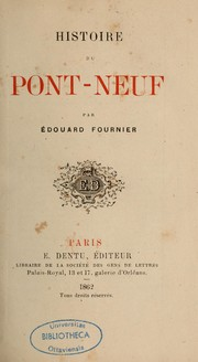 Cover of: Histoire du Pont-Neuf