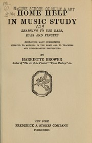 Cover of: Home help in music study | Harriette Brower