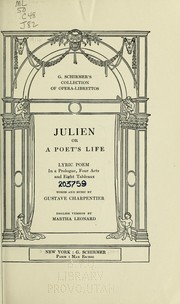 Cover of: Julien, or A poet's life