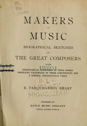 Cover of: Makers of music