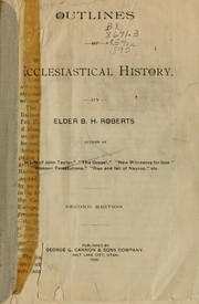 Cover of: Outlines of ecclesiastical history