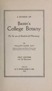 Cover of: A revision of Bastin