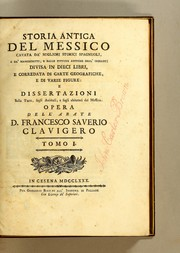 Cover of: Storia antica del Messico