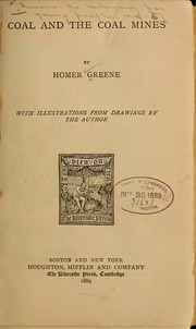 Cover of: Coal and the coal mines | Homer Greene