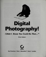 Cover of: Digital photography! | Erica Sadun