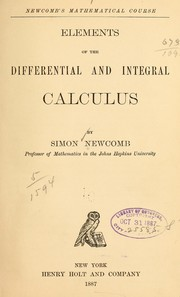 Cover of: Elements of the differential and integral calculus