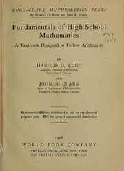 Cover of: Fundamentals of high school mathematics ...