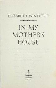 Cover of: In my mother's house