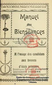 Manuel des bienséances à l'usage des candidats aux brevets d'école primaire (Université d'Otttawa) 7096295-M