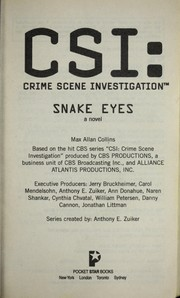 Cover of: Snake eyes: a novel