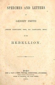 Cover of: Speeches and letters of Gerrit Smith | Gerrit Smith