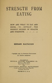 Cover of: Strength from eating
