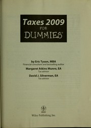 Cover of: Taxes 2009 for dummies