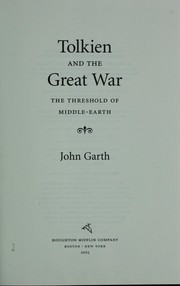 Cover of: Tolkien and the Great War | John Garth
