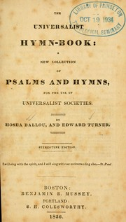 Cover of: The Universalist hymn book