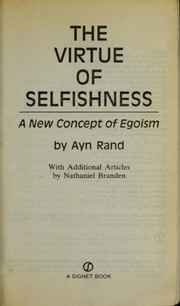 Cover of: The virtue of selfishness | Ayn Rand