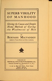 Cover of: Superb virility of manhood