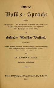 Cover of: Offene Volks-Sprache