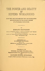 Cover of: The power and beauty of superb womanhood
