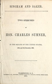 Cover of: Bingham and Baker