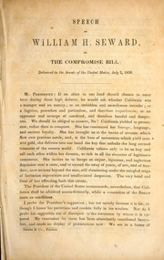 Cover of: Speech of William H. Seward, on the Compromise bill