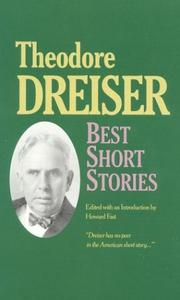 Cover of: The best short stories of Theodore Dreiser