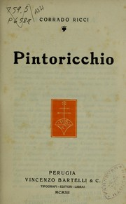 Cover of: Pintoricchio