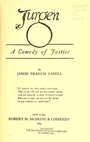 Cover of: Jurgen | James Branch Cabell