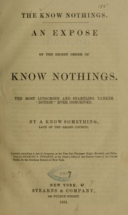 Cover of: The Know nothings. |