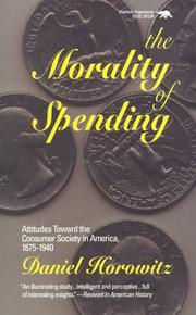 Cover of: The morality of spending