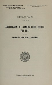 Cover of: Announcement of farmers