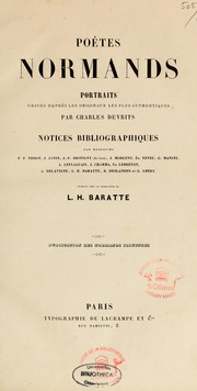 Poètes normands by Louis Henri Baratte