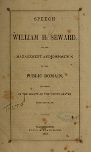 Cover of: Speech of William H. Seward