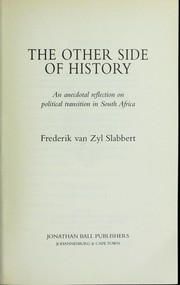 Cover of: The other side of history | F. van Zyl Slabbert