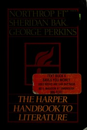 Cover of: The Harper handbook to literature | Northrop Frye