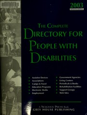 Cover of: The Complete directory for people with disabilities | Grey House Publishing, Inc