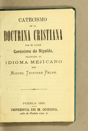 Cover of: Catecismo de la doctrina cristiana