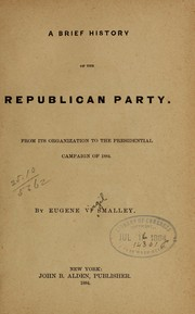 Cover of: A brief history of the Republican party