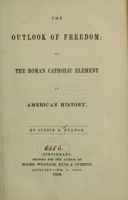 Cover of: Outlook of freedom