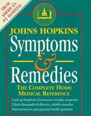 Cover of: Johns Hopkins Symptoms and remedies | Simeon Margolis