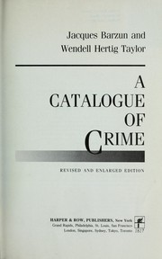 Cover of: A catalogue of crime