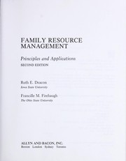 Cover of: Family resource management | Ruth E. Deacon