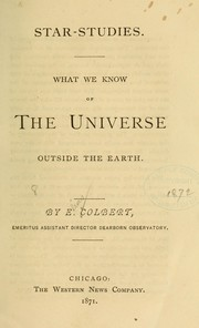 Cover of: Star-studies