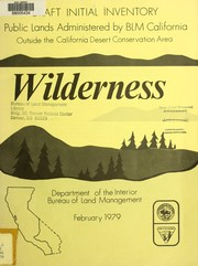 Cover of: Draft initial wilderness inventory