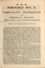 Cover of: Democratic professions vs. democratic practice |