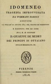 Cover of: Idomeneo