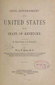 Cover of: Civil government of the United States and the state of Kentucky. | Will P. Hart