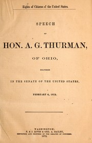 Cover of: Rights of citizens of the United States