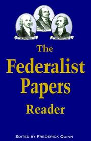Cover of: The Federalist papers reader |